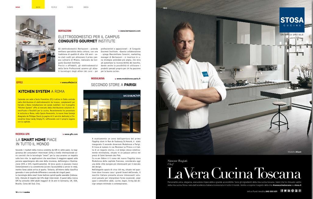 Pagina 18 rivista Ambiente Cucina: Kitchen System